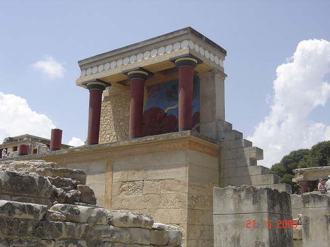 knossos - Греция-Крит-Кносский дворец