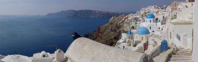 SantoriniPartialPano - Греция Санторини Иос